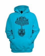 Celtic Spiral Tree of Life Men's Pouch Pocket Hoodie - Hipster Wicca Pagan