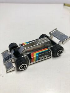 Vintage 4in. striped red yellow blue f1 INDY RACE CAR hong kong 1979 tonka O8