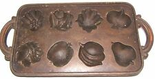 Fruit Cake Candy Cast Iron  Muffin Mold John Wright Cornbread