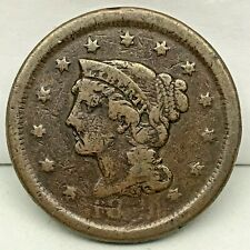 18??- Penny- Braided Hair Large Cent - Original- Nice Coin.#2