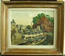 René LEFORESTIER Lavoir de la Garenne à Vannes Morbihan Bretagne peinture c1950