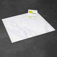 £22.79m2 White Marble High Gloss Porcelain Tiles 80x80 Wall-Floor OFF-CUT SAMPLE