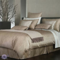 Private Collection Finnesse Stripe Rose Gold Duvet Doona Quilt Cover Set | King