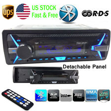 Car Radio Detachable Panel Bluetooth 1 Din RDS+ AM FM Car MP3 Player Auto Stereo