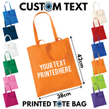 Custom Printed Personalised Text Tote Bag - Fun Party Bags Hen Do Night Wedding