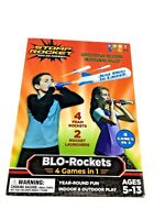 Stomp Rocket BLO-Rockets 4-1 Game with 2 Launchers, 4 Rockets Indoor and Outdoor