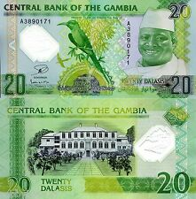 GAMBIA 20 Dalasis Banknote World Polymer Money UNC Currency Pick p-30 Bill Note
