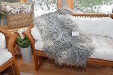 "Silver Curly Wool Gotland Sheepskin Throw,Rug,Blanket,Cover,Chair Pad,50X31"" G26"