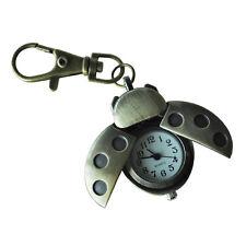 20x(Bronze Tone Metal Ladybird Shape Pendant Key Ring Watch G4F1