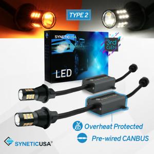 24 LED Amber 2-pc Set TuningPros LEDSL-3157-A24 Stop Light LED Light Bulbs 3157