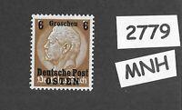 MNH / OSTEN overprint stamp 1940 Hindenburg 6GR German occupation Poland WWII