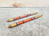 Old Original Primitive Handmade & Painted Multi-colour 2 Pcs. Wooden Hanger Hook