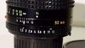 Minolta 50mm 1.2 MD Mint Condition for Mirrorless