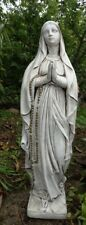 Vierge Marie, statue pierre reconstituée,80 cm, idéale pour l'extérieur