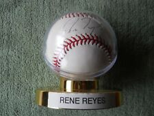 RENE REYES AUTOGRAPHED SIGNED BASEBALL Colorado Rockies