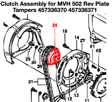 Multiquip Mikasa Clutch Assy for Mvh 502 Rev Plate Tampers 457336370 457336371