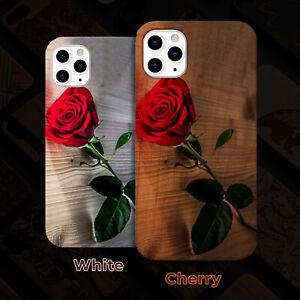 Rose 2 Wood Case iPhone 13/12/11/11 Pro/Max/Mini, X/XR/XS Max