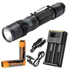 Fenix PD35 XM-L2 U2 LED Flashlight - 960 Lumens - 2x 3500mAH & Smart Charger