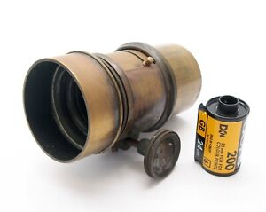 Vintage 6 inch F3.7 Petzval Portrait Lens with Diaphragm - UK Dealer