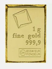 #102 - 1 gram Gold Bar Valcambi Suisse from Gold CombiBar 999.9 Fine
