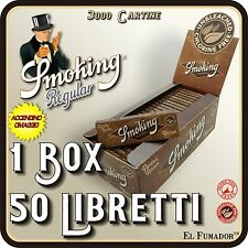 CARTINE SMOKING BROWN CORTE 1 BOX 50 LIBRETTI 3000 FOGLI - MARRONI SIGILLATO