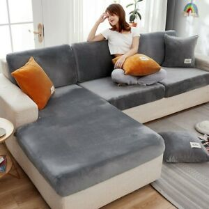 Elastic Plush Velvet Sofa Seat Cover Seat Slipcover Couch Furniture Protector