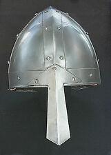 Wikinger Nasal Helm Ritterhelm Normannenhelm Mittelalter Larp Rüstung sca  R13D