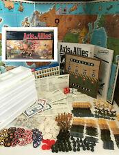 AXIS & ALLIES 100% COMPLETE! 1942 Milton Bradley Gamemaster Series 1987 WWII