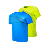 Men's Sport T-shirt Top Crew Neck Short Sleeve Designer Quick Dry Athletic Tee