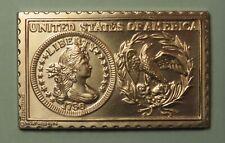 1796 United States of America Quarter 25 Cents Numistamp Medal 1974 Mort Reed