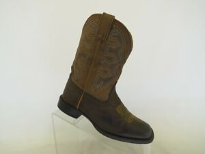 NOCONA Brown Cowboy Western Boots Youth Size 3 D