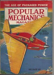 Magazine Popular Mechanics August 1941 Submarine Menace Assembly Line Defense