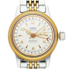 Ladies Oris Pointer Date Big Crown Steel & Gold Plate Auto Watch Great Condition