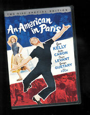 AN AMERICAN IN PARIS (2 DVD SET) GENE KELLY LESLIE CARON Very Fine disc VG box