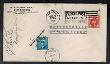 1947 Canada Cover Maiden Voyage MV C & E Burke Purser Signed to Halifax Canso