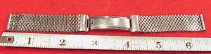 VINTAGE 1940s Stainless Steel Mesh Premium Lance JB Champion Watch Band ADJUSTS
