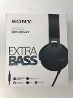 SONY MDR-XB550AP/B Extra Bass On-Ear Headphone - BLACK - NEW (FREE SHIPPING)