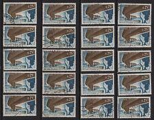 K77* Lot Timbres Oblitérés n°1489 1966 (PONT D'OLERON) x20 pour étude
