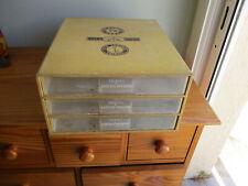Ancienne Boite de rangement pour mercerie 3 tiroirs THIRIEZ CARTIER BRESSON