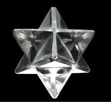 Clear Quartz Merkaba Stars reiki healing chakra balancing crystal grid 8 points
