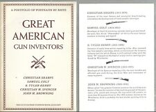 Book of Portraits of Great American Gun Inventors Samuel Colt Browning Sharps
