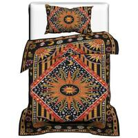 Indian Mandala Cotton Burning Sun Duvet Doona Quilt Cover Set Bedding Throw Art
