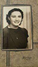 Vintage Photograph Portrait Lovely Lady Columbus, KS