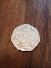 50p piece with Twenty Fith Anniversary of the E.U. issued 1998