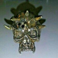 Rare Vintage 1993 G&S Spiked Biker Skull Goth Punk Ring - USA