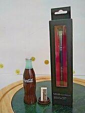 New Mua Makeup Professional Angled Liner Brow Brush /Coke Pencil Sharpener Used