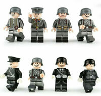 8 pcs German Military WWII Soldiers Generals Figures Building Blocks Fit Lego