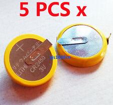ba57cd52c 5 PC X nuevo con pestañas 3 V CR2450 batería de botón con pies de soldadura  horizontal 2 Pines