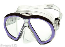 Atomic SubFrame Dive Mask for FreeDiving Scuba Snorkeling Clear/Purple