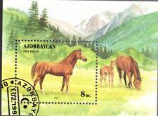 0045+ TIMBRE AZERBAIDJAN  BLOC  CHEVAUX  1992